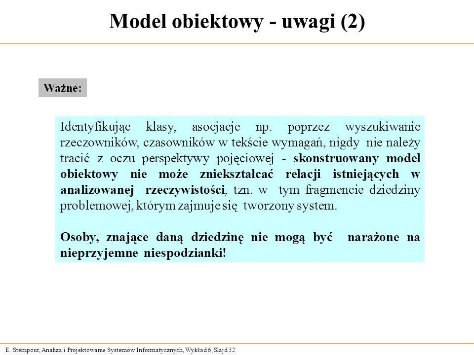 Model obiektowy - uwagi (2)