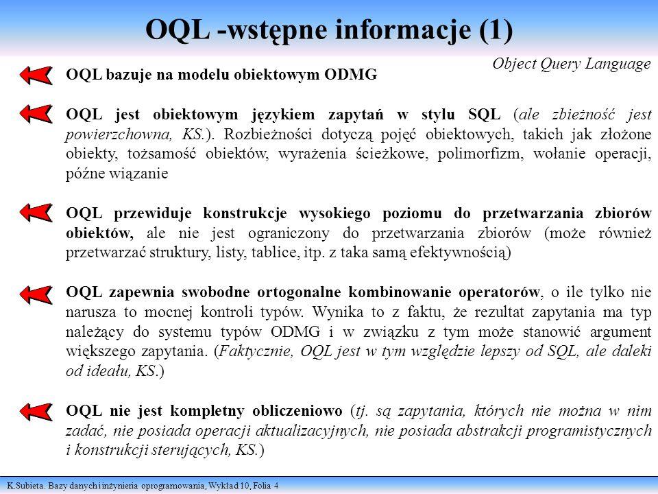 OQL -wstępne informacje (1)