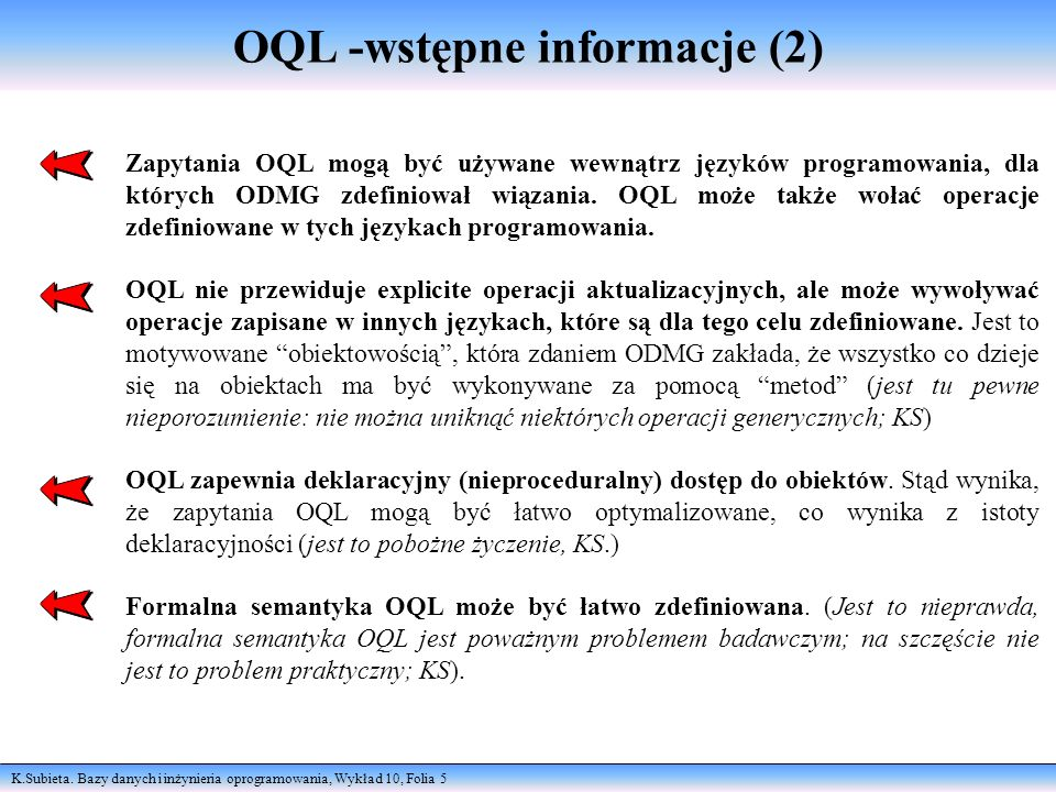 OQL -wstępne informacje (2)