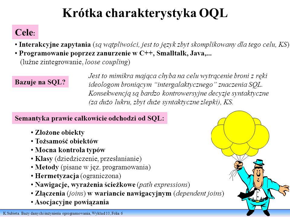 Krótka charakterystyka OQL