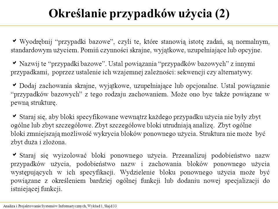 Określanie przypadków użycia (2)