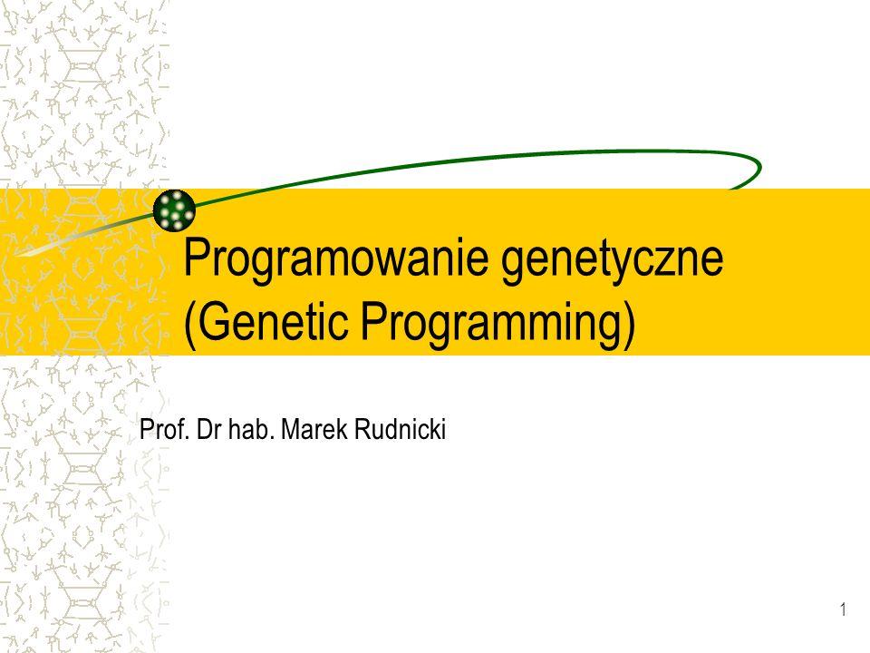 Programowanie genetyczne (Genetic Programming)