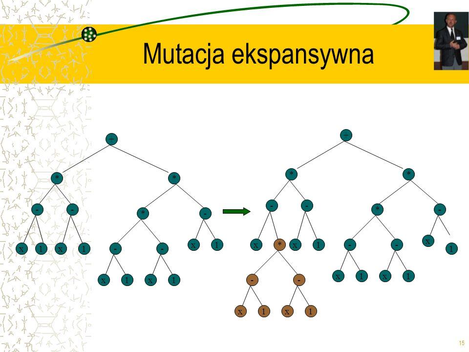 Mutacja ekspansywna + + * * * * - - - - * - * - x x 1 x * x 1 - - x 1