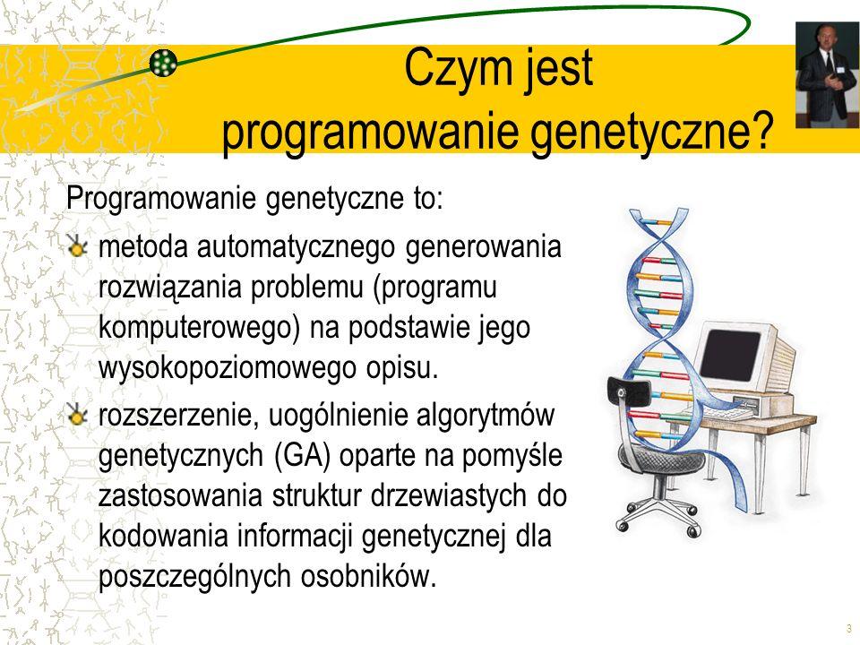 Czym jest programowanie genetyczne