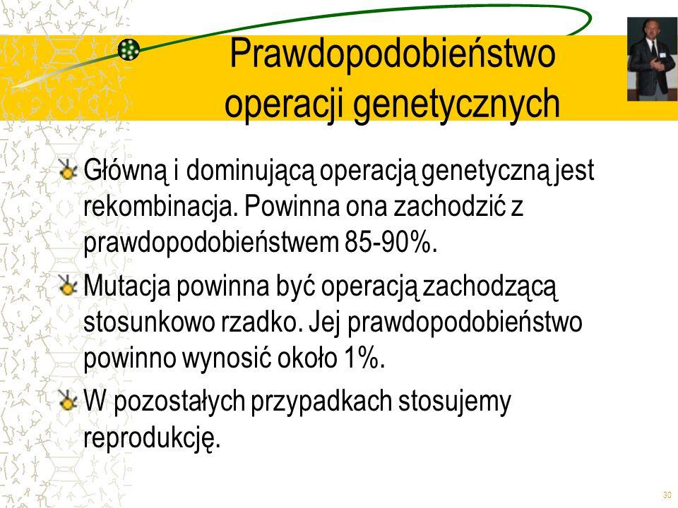 Prawdopodobieństwo operacji genetycznych