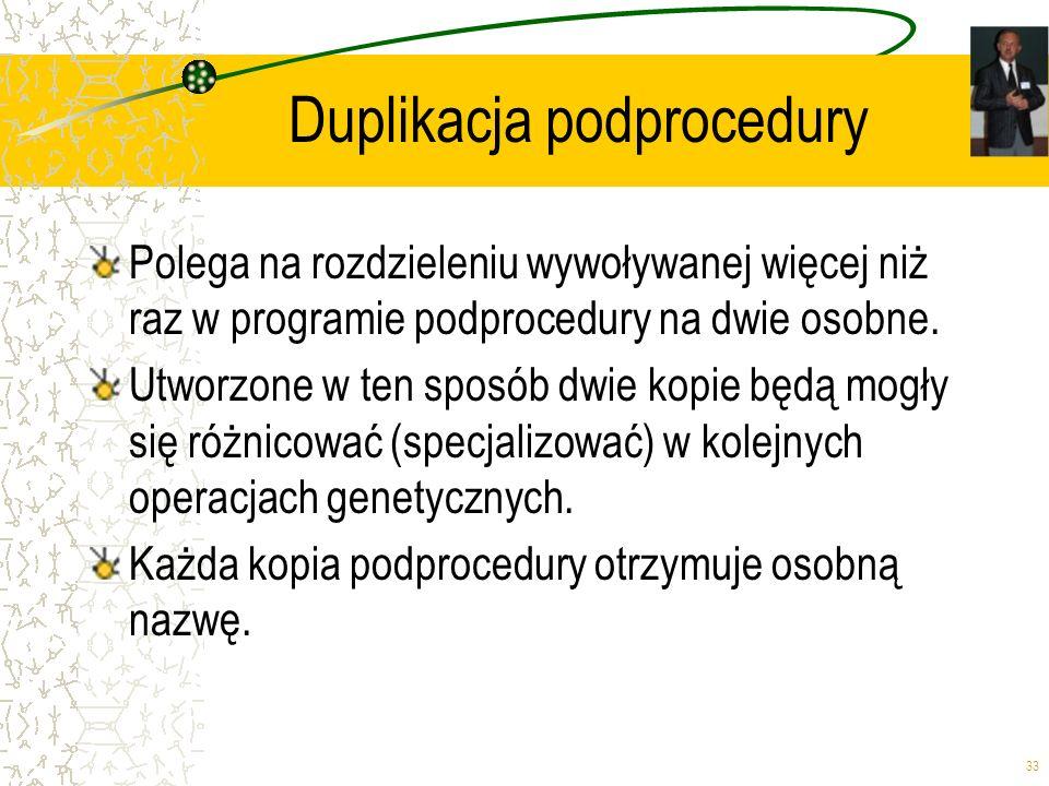 Duplikacja podprocedury