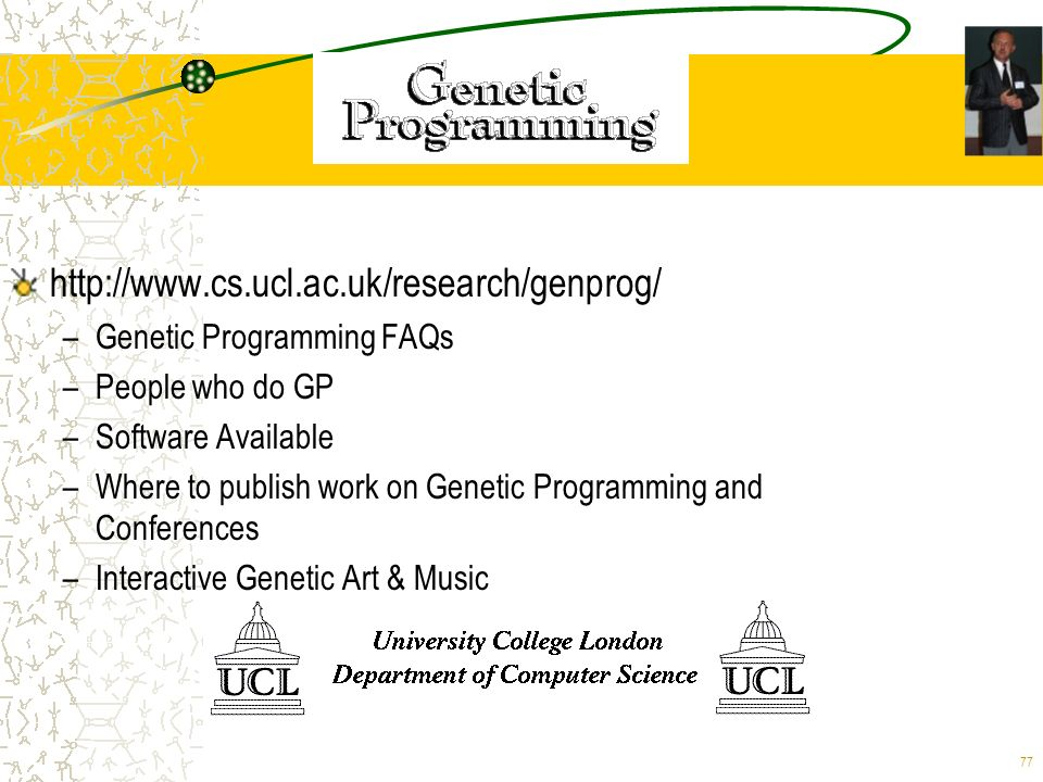 http://www.cs.ucl.ac.uk/research/genprog/ Genetic Programming FAQs