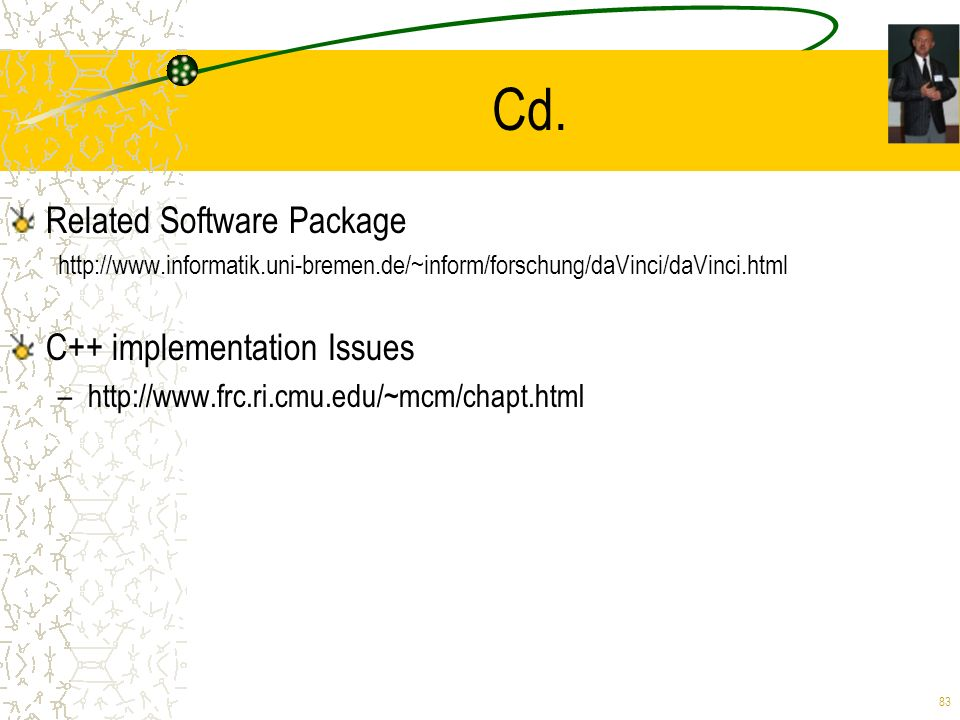 Cd. Related Software Package C++ implementation Issues