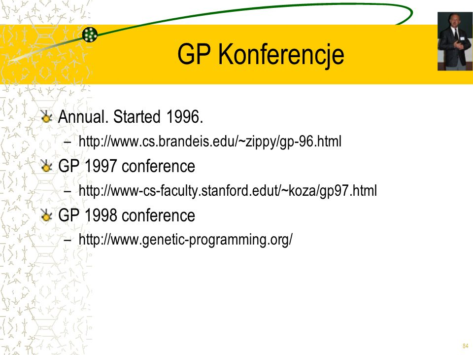 GP Konferencje Annual. Started 1996. GP 1997 conference