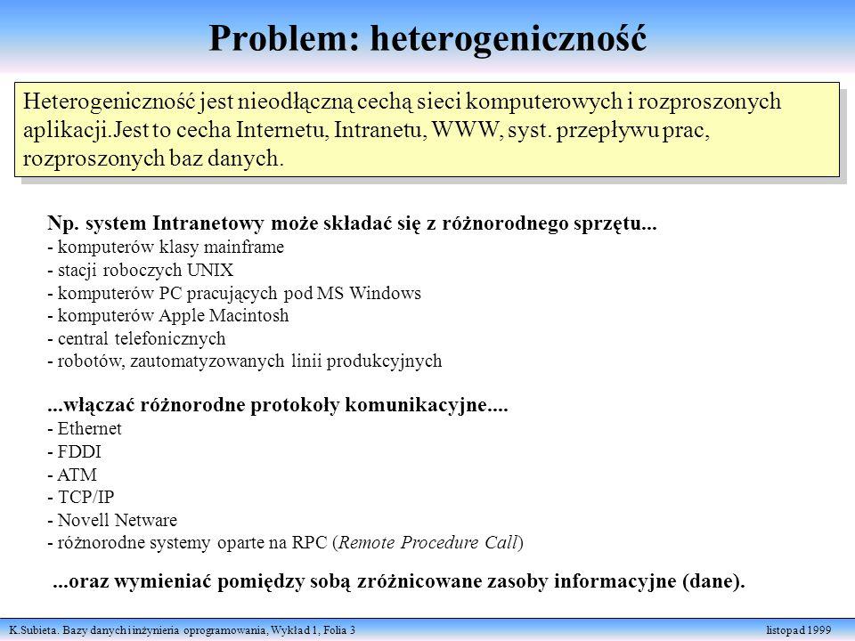 Problem: heterogeniczność