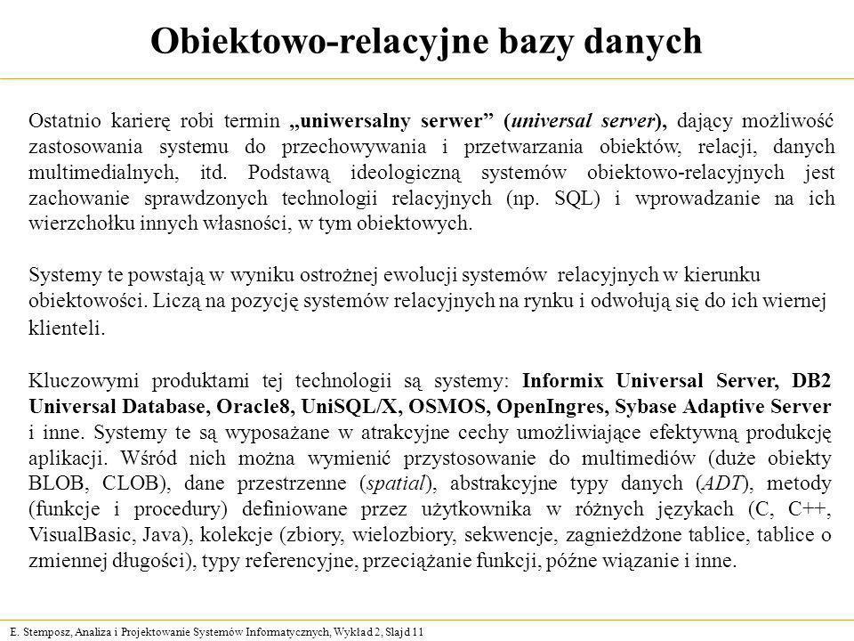 Obiektowo-relacyjne bazy danych