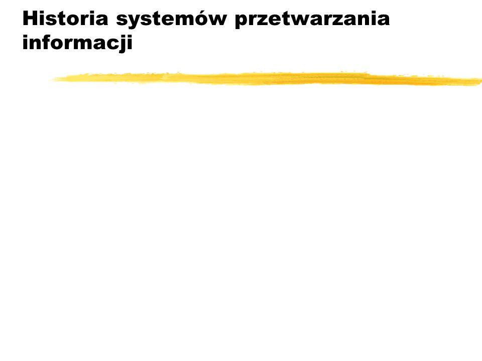 Historia systemów przetwarzania informacji