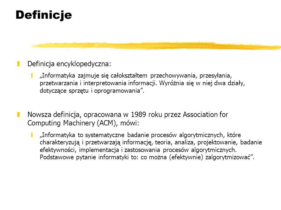 Definicje Definicja encyklopedyczna: