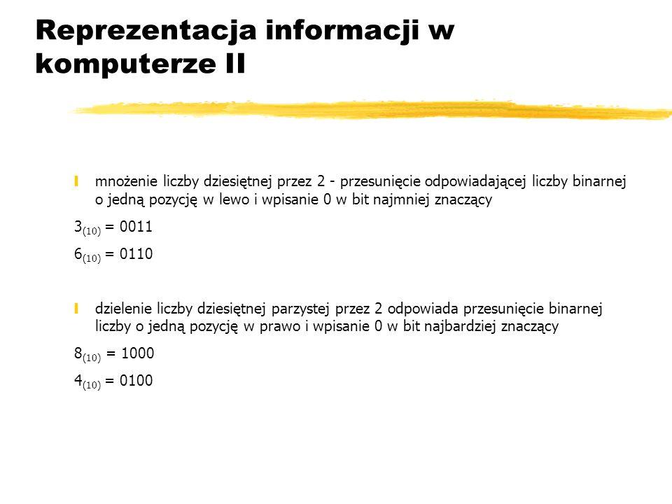 Reprezentacja informacji w komputerze II