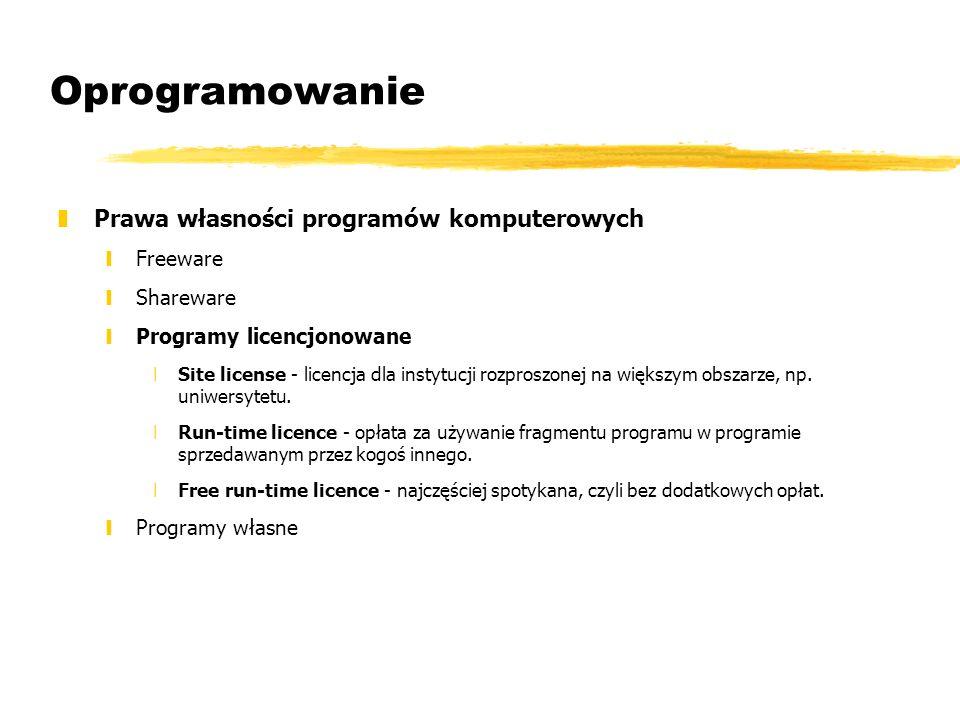 Oprogramowanie Prawa własności programów komputerowych Freeware