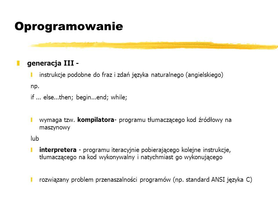 Oprogramowanie generacja III -
