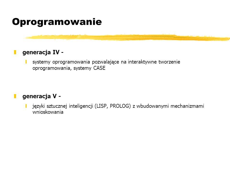Oprogramowanie generacja IV - generacja V -