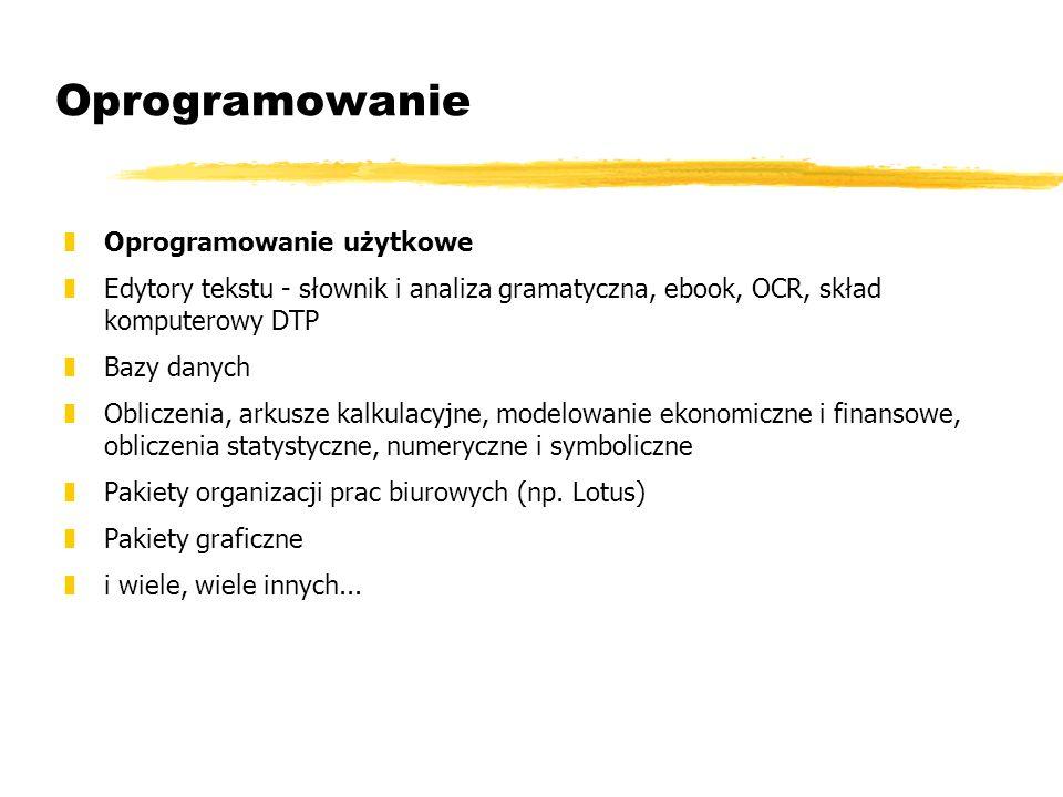 Oprogramowanie Oprogramowanie użytkowe