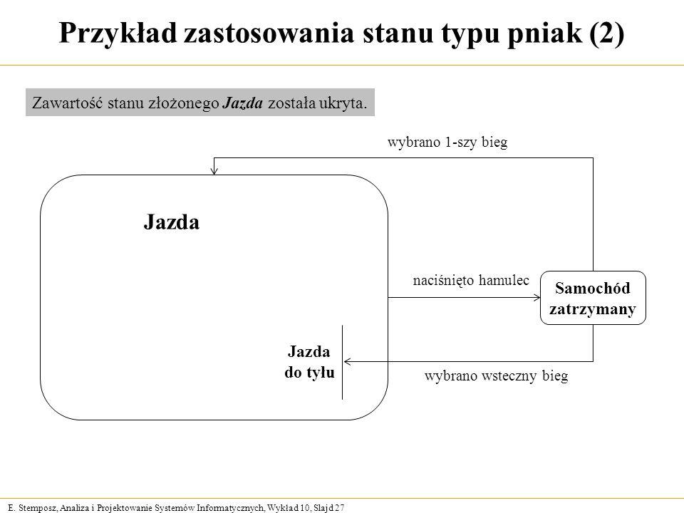 Przykład zastosowania stanu typu pniak (2)