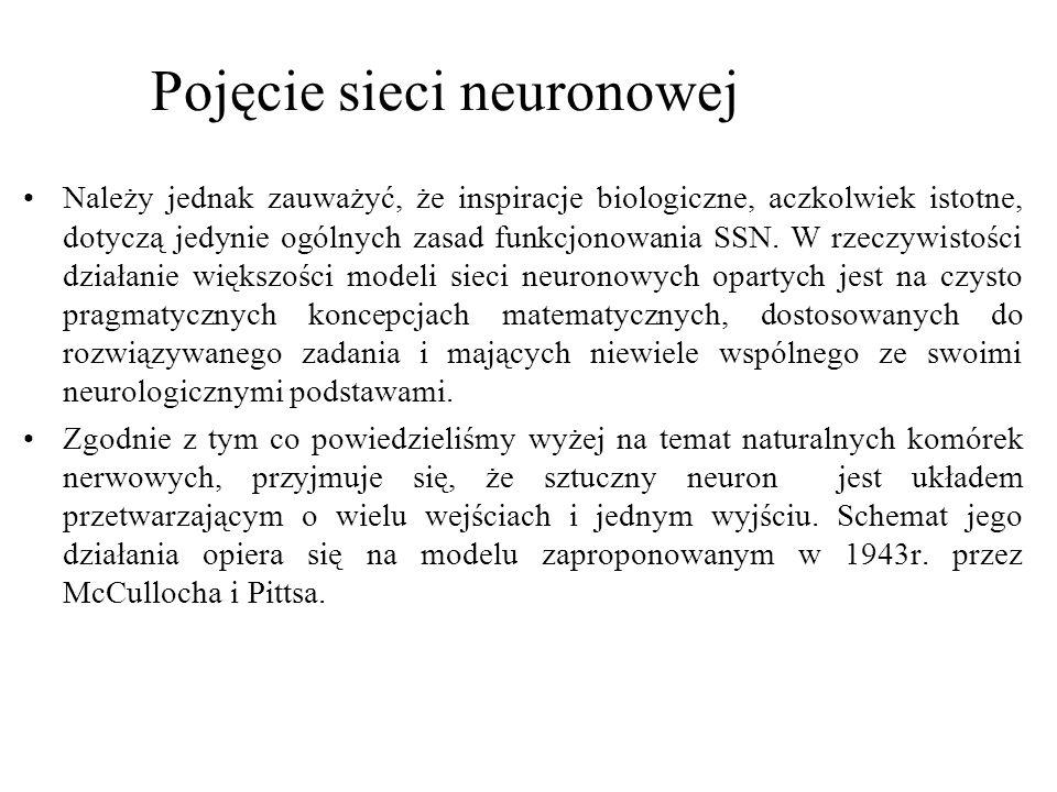 Pojęcie sieci neuronowej