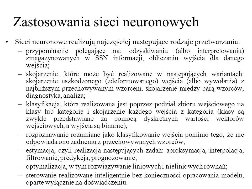Zastosowania sieci neuronowych