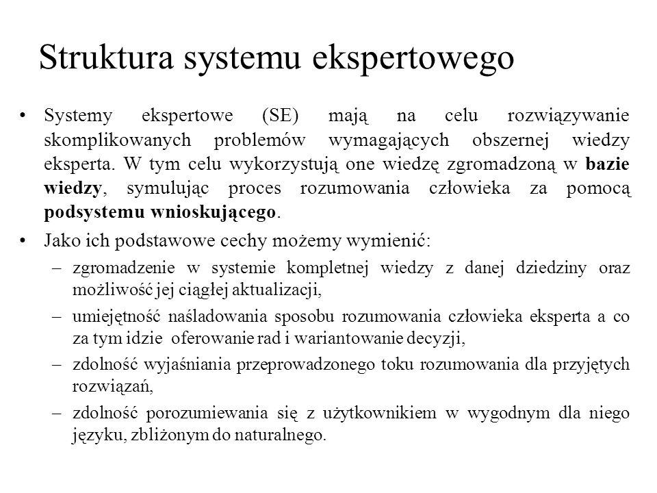 Struktura systemu ekspertowego