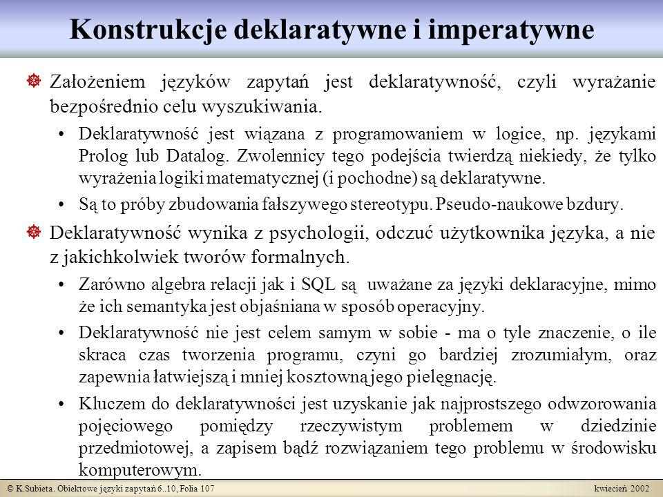 Konstrukcje deklaratywne i imperatywne