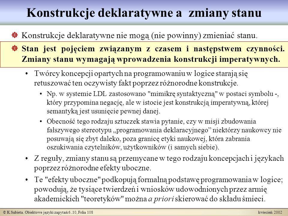 Konstrukcje deklaratywne a zmiany stanu