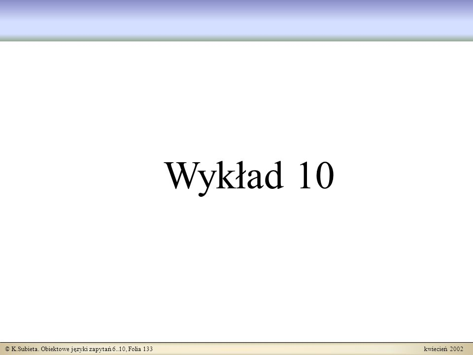 Wykład 10