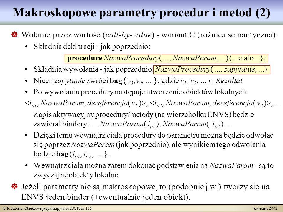 Makroskopowe parametry procedur i metod (2)