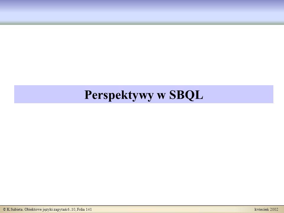 Perspektywy w SBQL