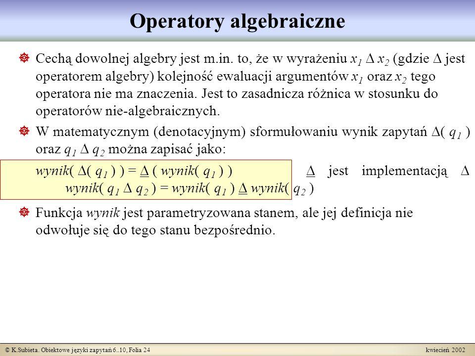 Operatory algebraiczne