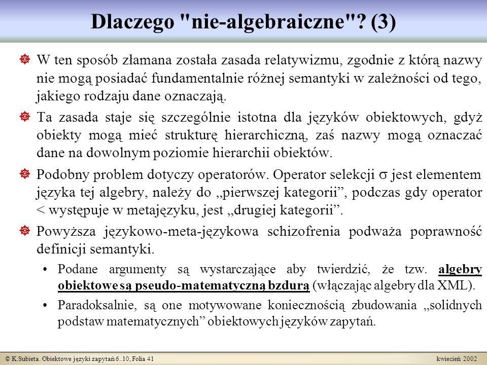 Dlaczego nie-algebraiczne (3)