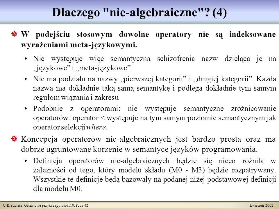 Dlaczego nie-algebraiczne (4)