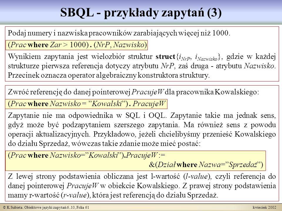 SBQL - przykłady zapytań (3)