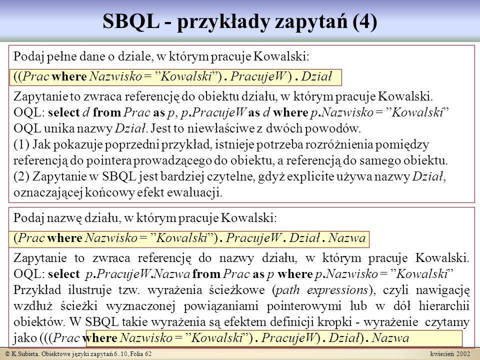 SBQL - przykłady zapytań (4)