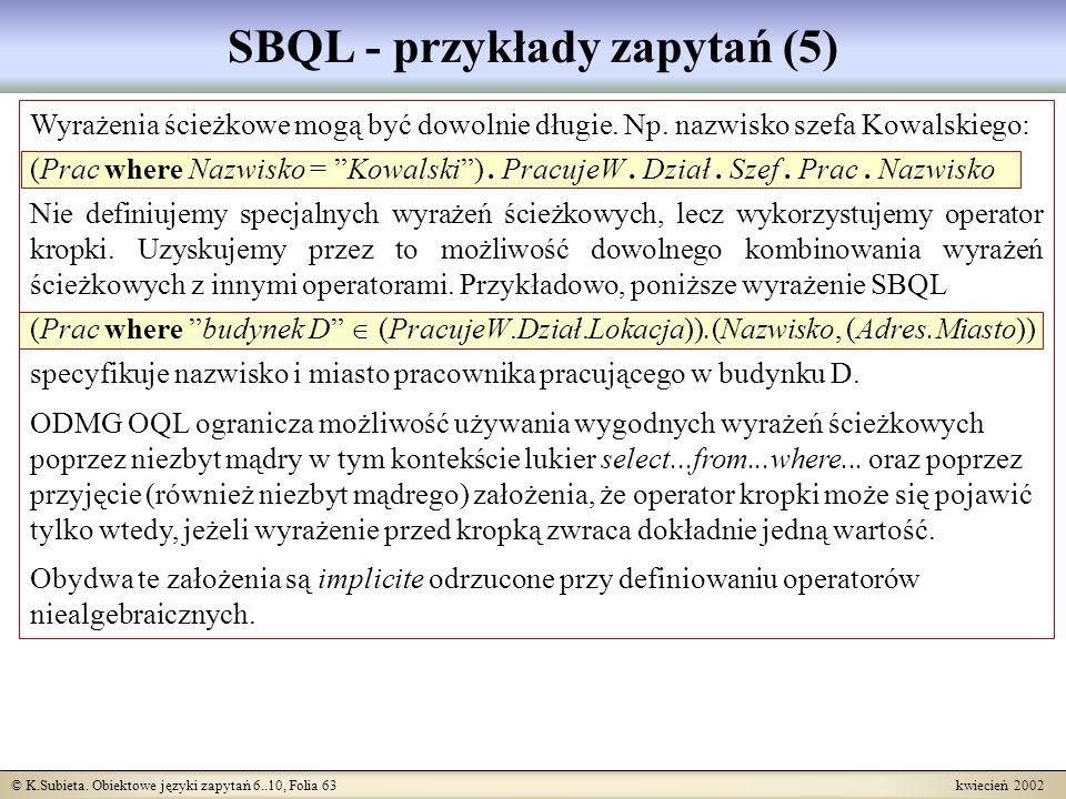 SBQL - przykłady zapytań (5)
