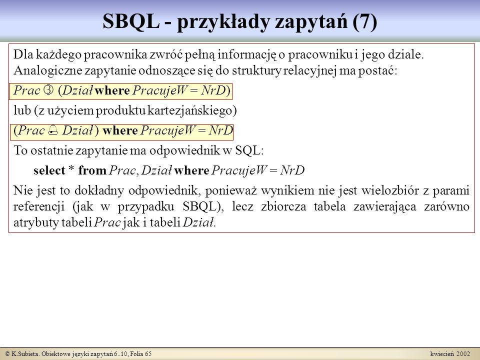 SBQL - przykłady zapytań (7)