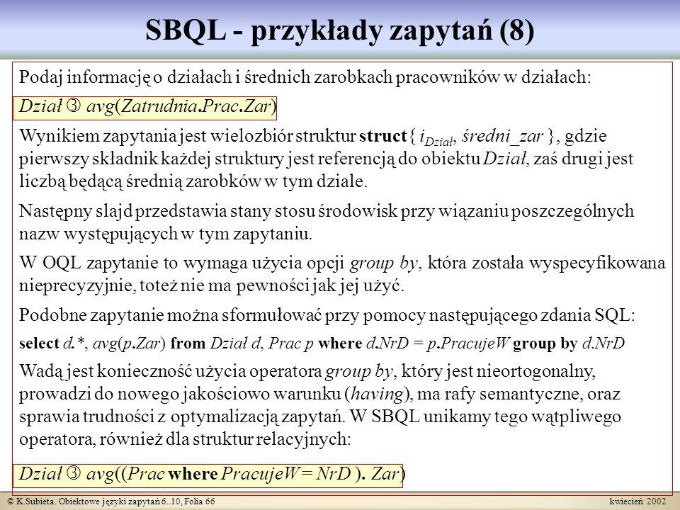 SBQL - przykłady zapytań (8)
