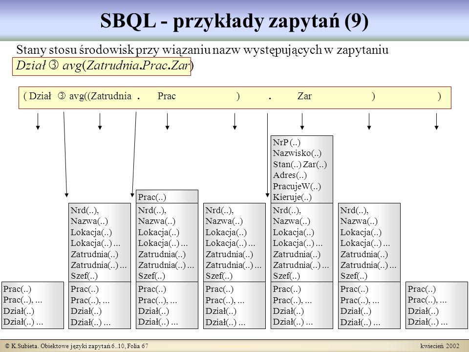 SBQL - przykłady zapytań (9)