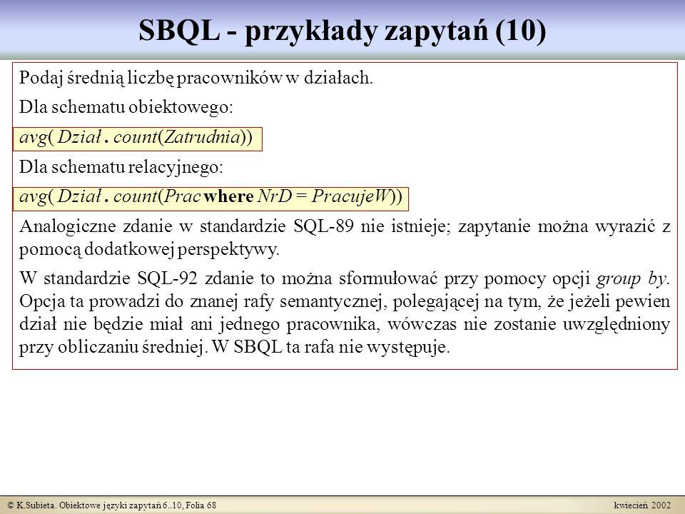 SBQL - przykłady zapytań (10)