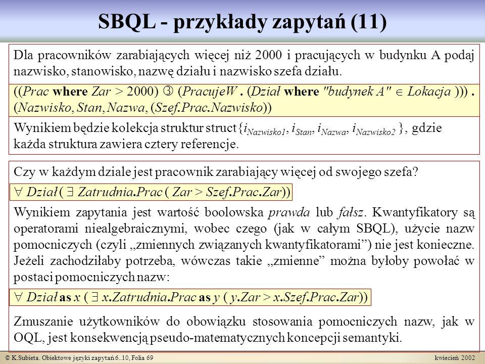 SBQL - przykłady zapytań (11)
