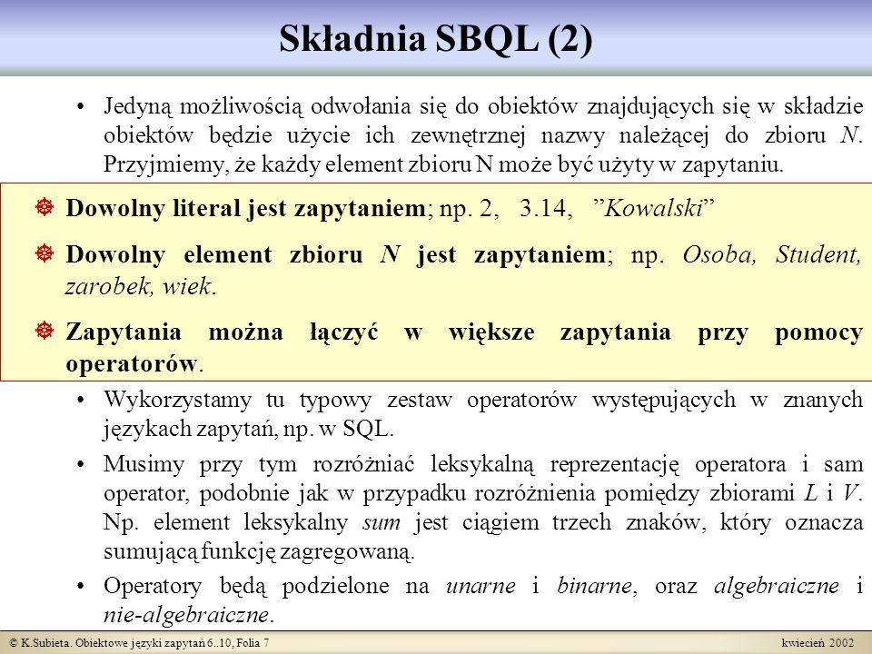 Składnia SBQL (2)