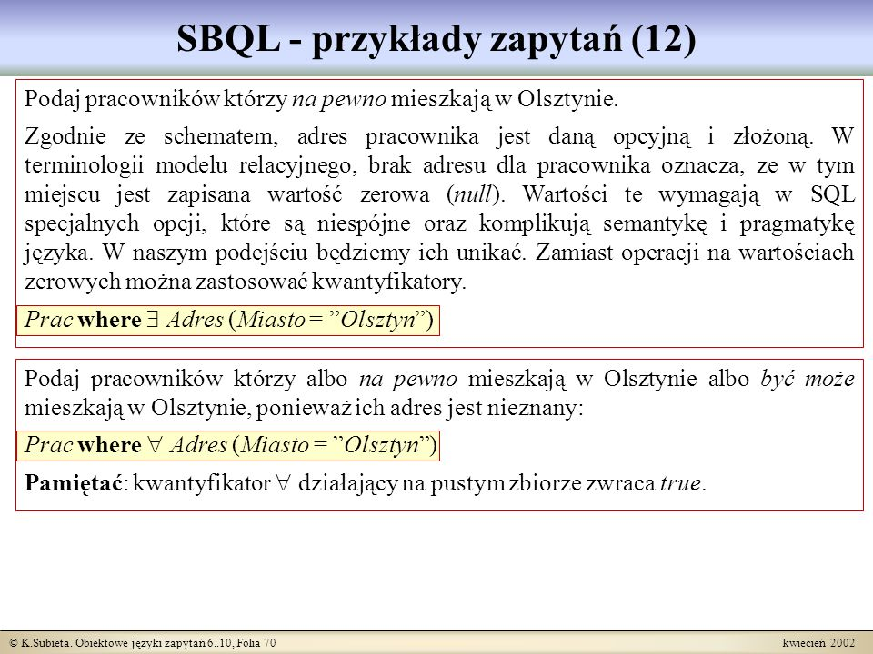 SBQL - przykłady zapytań (12)