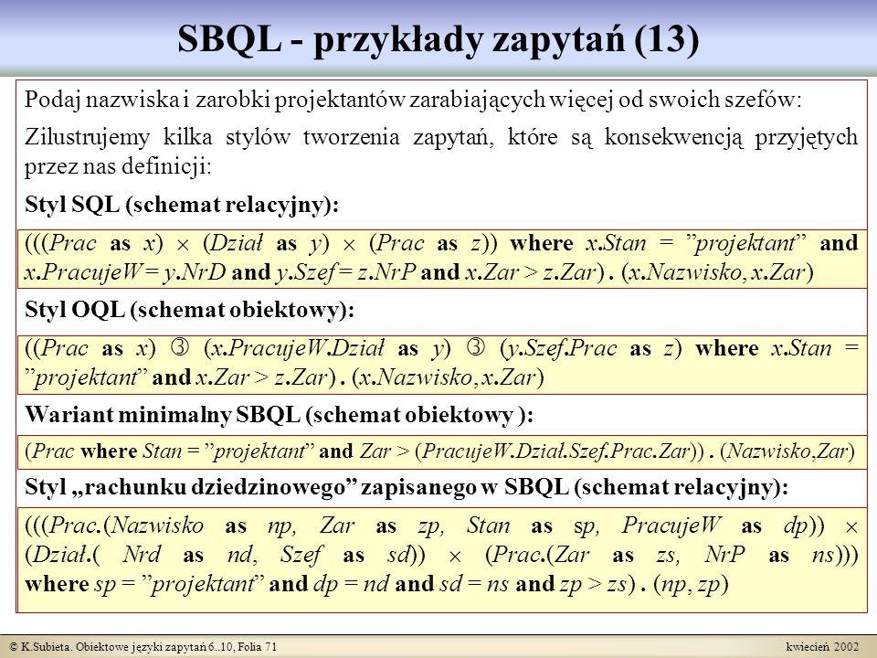 SBQL - przykłady zapytań (13)