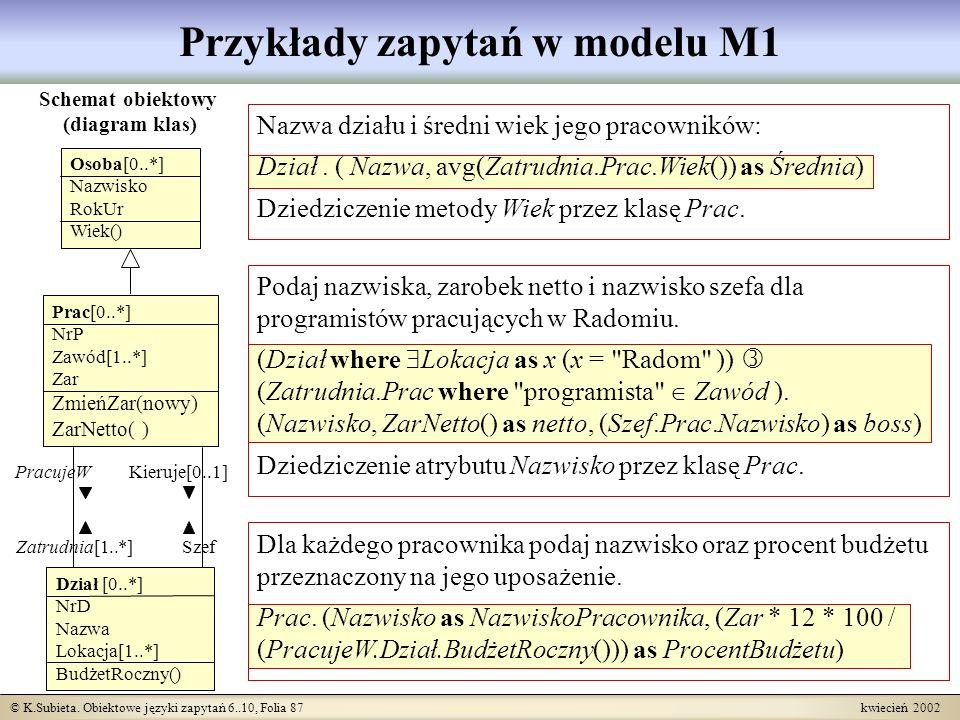 Przykłady zapytań w modelu M1