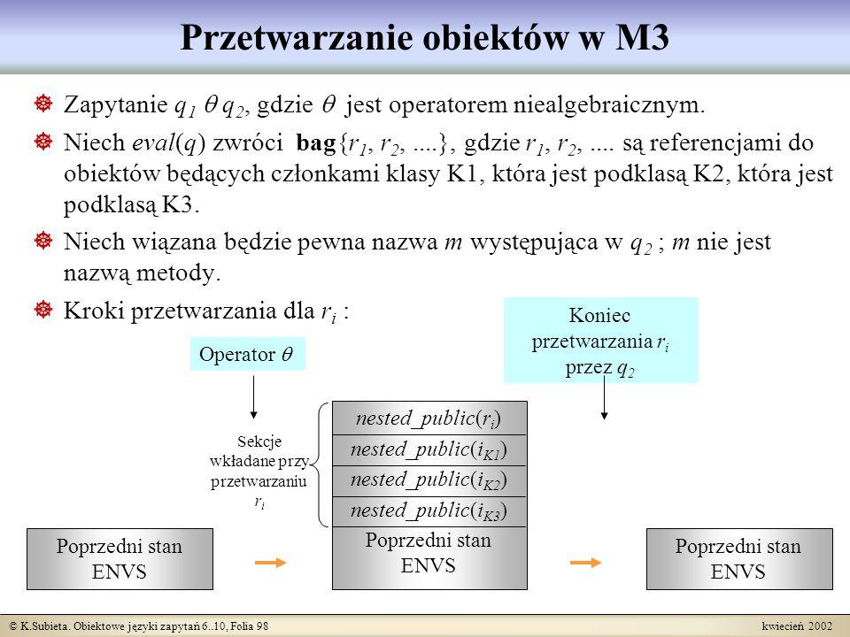 Przetwarzanie obiektów w M3