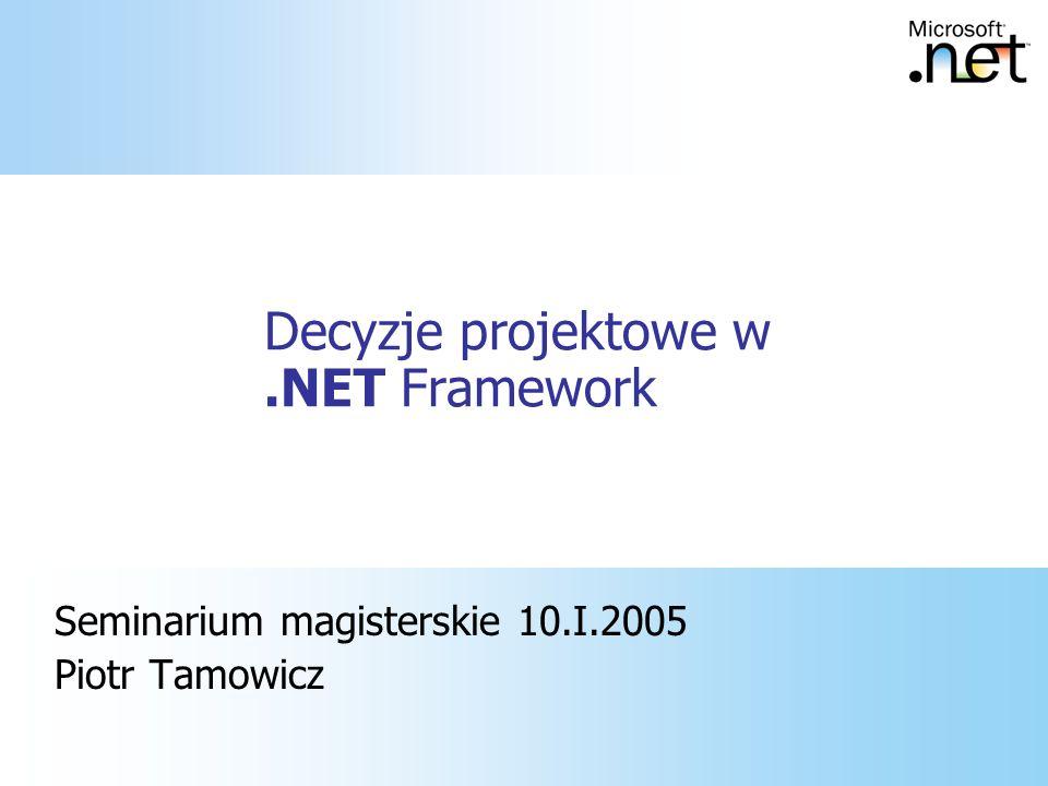 Decyzje projektowe w .NET Framework