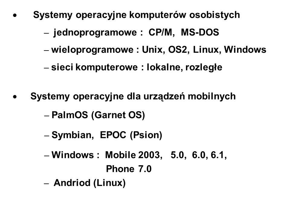 Systemy operacyjne komputerów osobistych