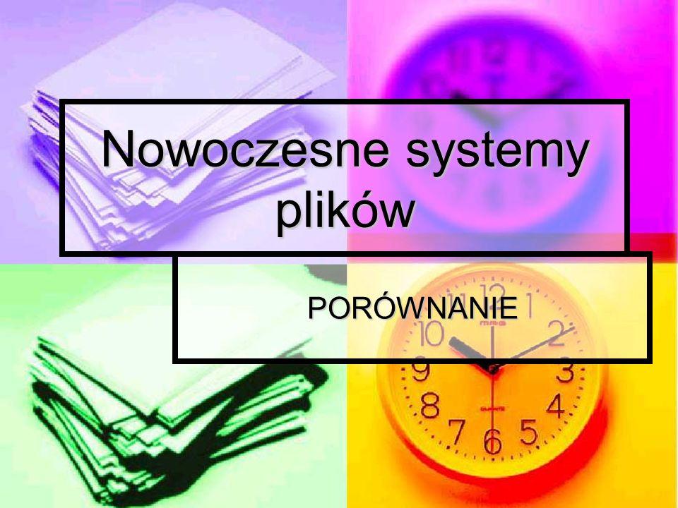 Nowoczesne systemy plików
